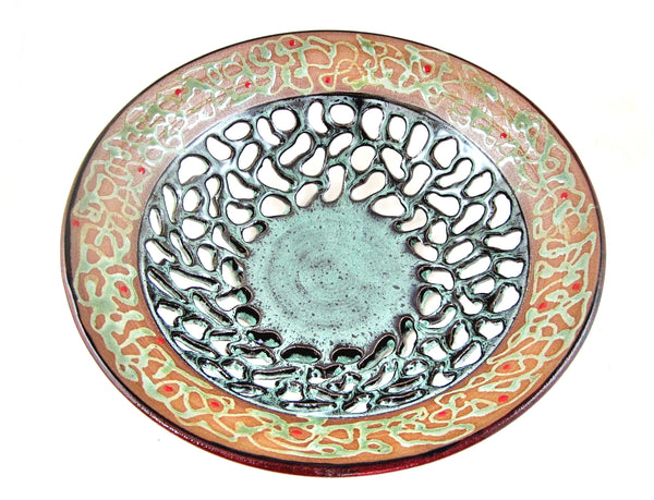 "Decorative Fruit Bowl from The Twist Collection 12"" x 3.25""- 324 FB"