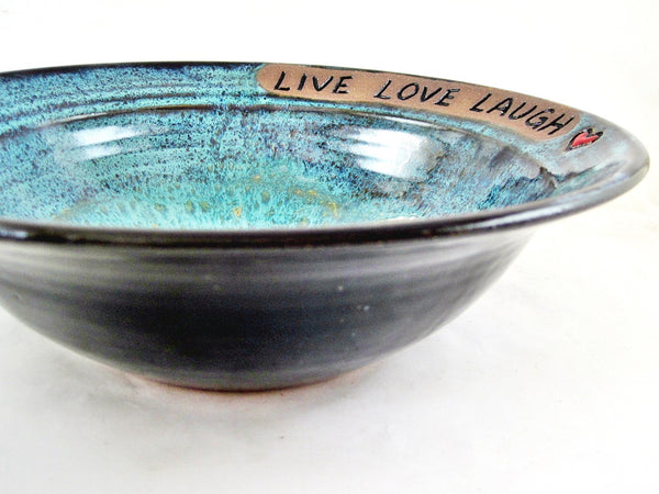 Pottery wedding bowl, Anniversary bowl - IN STOCK 327 WB