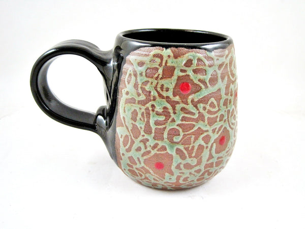 Black handle mug from The Twist collection - Ning