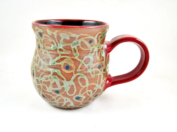 16 oz. Red handle mug from The Twist collection