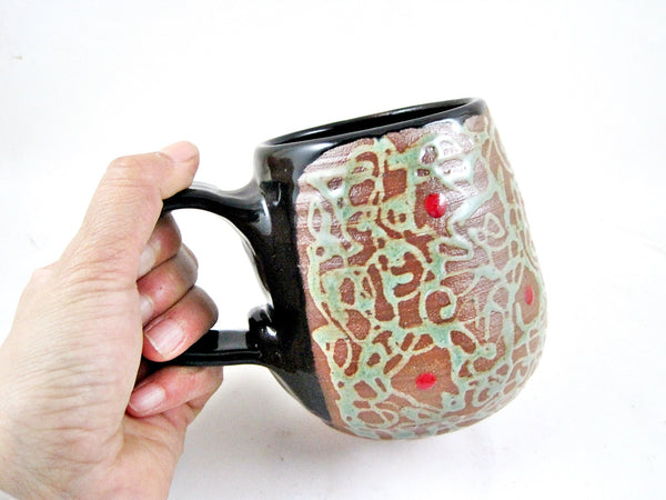 14 oz. Black handle mug from The Twist collection