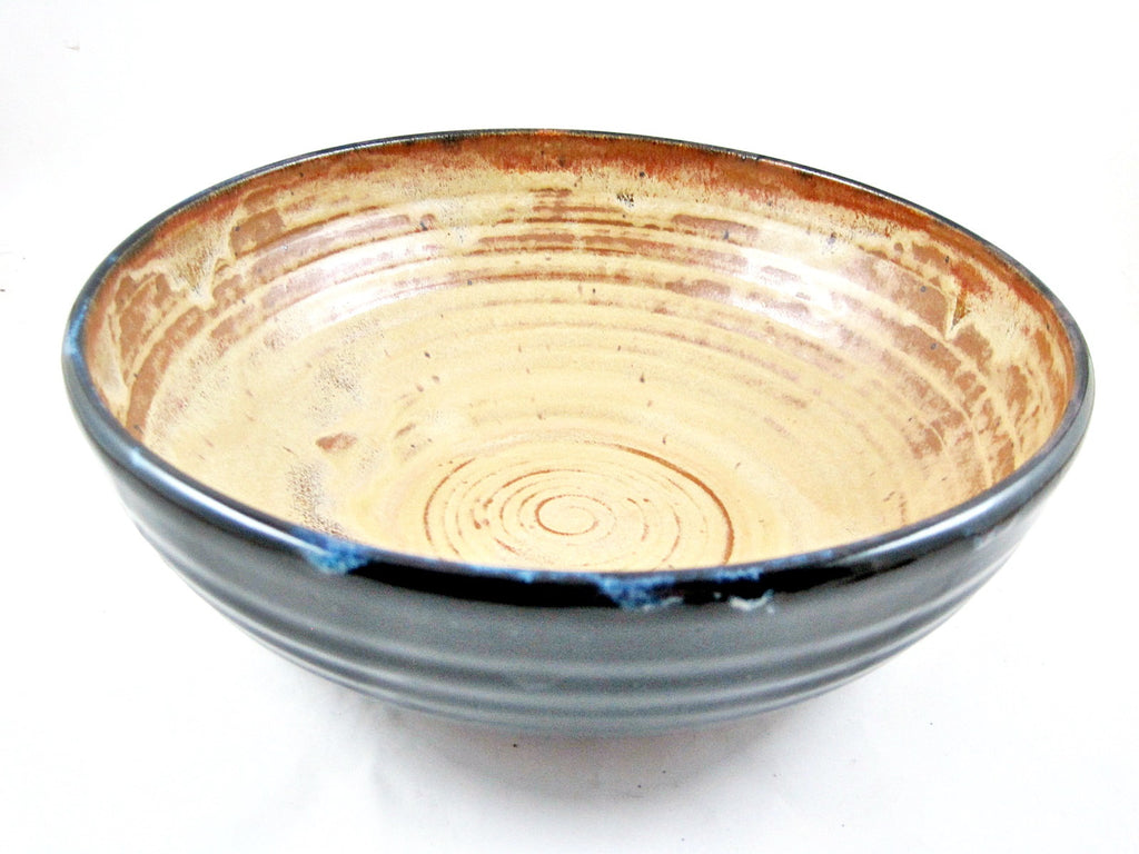 Pottery serving bowl from Sunrise Collection - Ning's Pottery