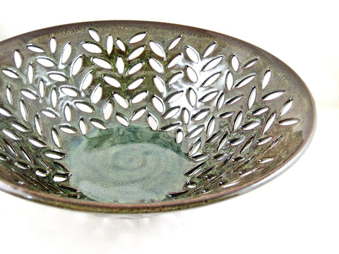 "Large fruit bowl with river rock design 12.5"" x 4.25"" - 340 FB"