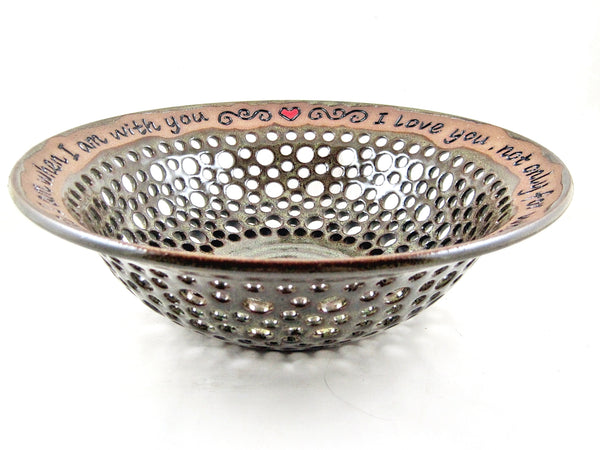 9th Wedding anniversary gift, Fruit bowl - In stock 364 WB