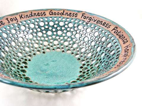 Pottery fruit bowl for Anniversary or wedding - In stock 366 WB