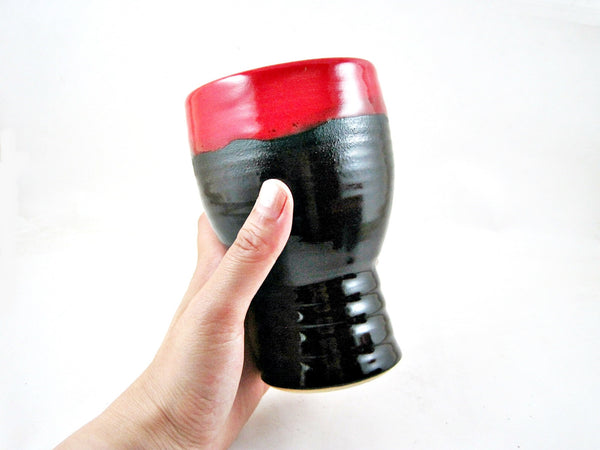 Black and Red IPA beer glass, Great Father's Day Gift-  In stock