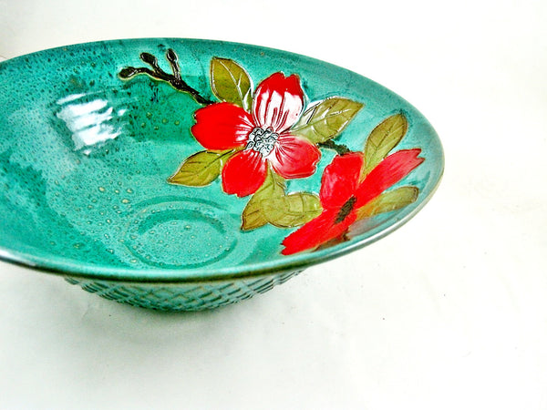 Magnolia serving bowl- In stock 138SB