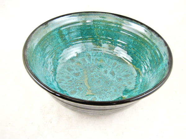 Ramen Noodle Bowl in Teal green and black - SET OF 2 OR 4 L (Ready to ship)