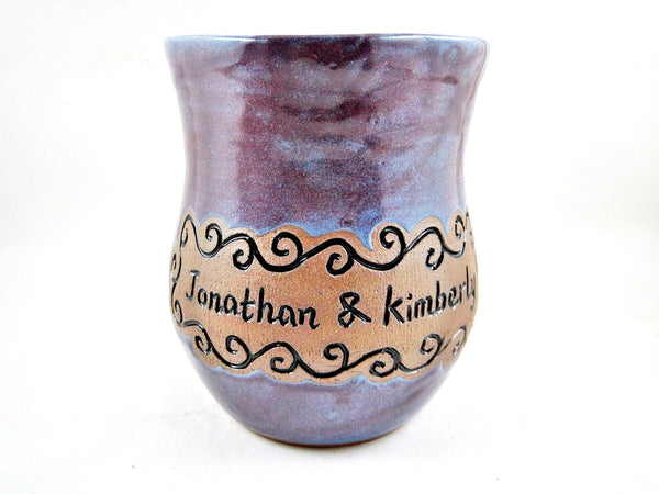 Family established Gift Personalized Family name pottery vase