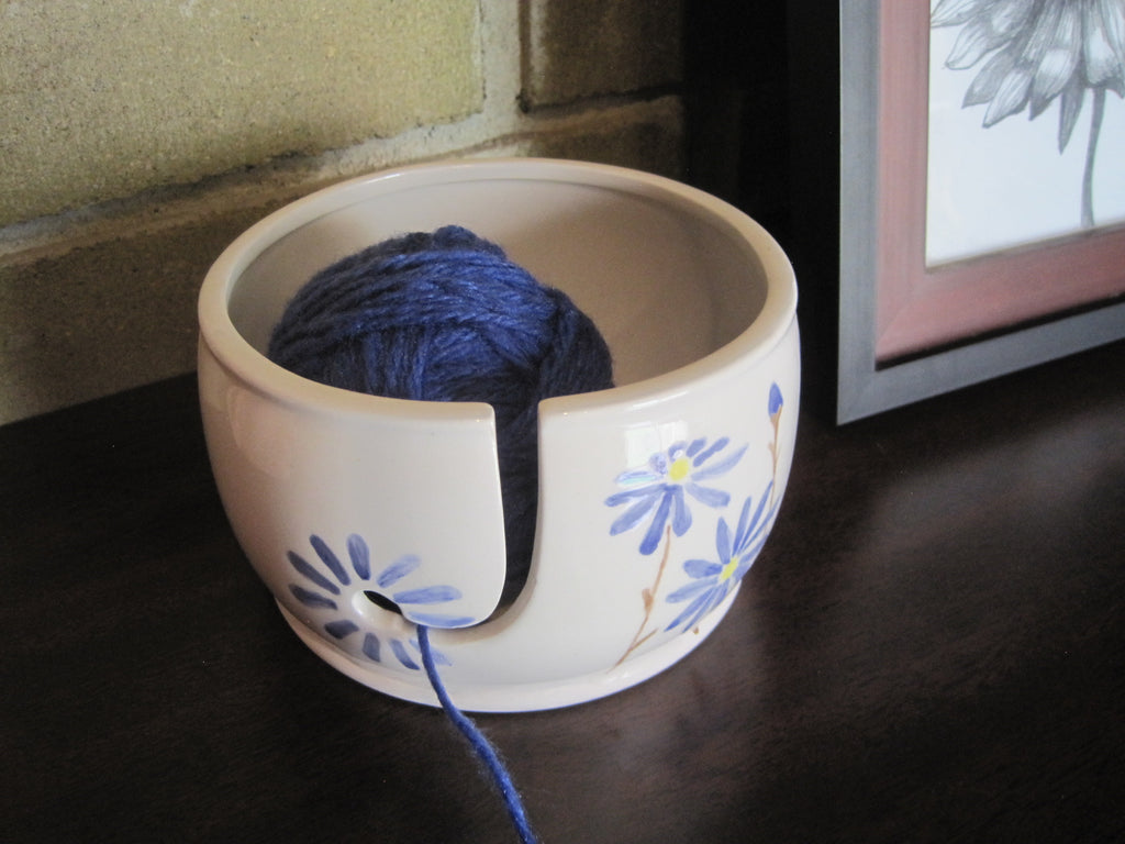 Hand Painted yarn bowl - In stock