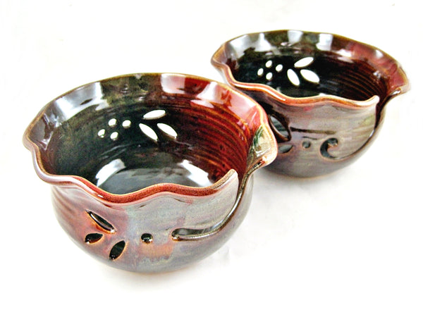 Pottery Yarn bowl, knitting bowl - In stock
