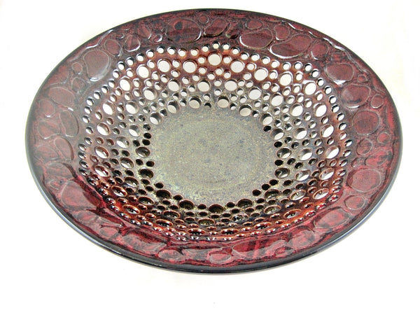 Dark red fruit bowl - 393 FB