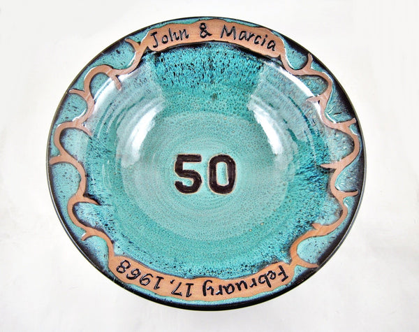 Personalized 50th Wedding anniversary bowl
