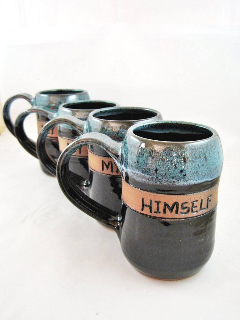 Personalized beer stein for Groomsmen gifts, 20 oz - Ning's Pottery