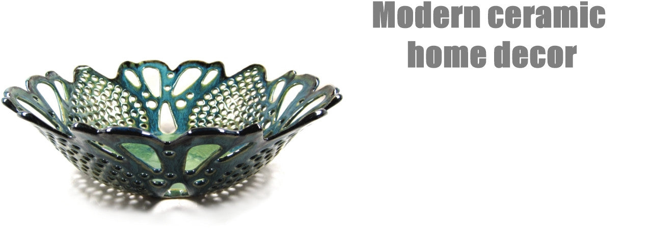 Modern ceramic home decor by Ning's Pottery