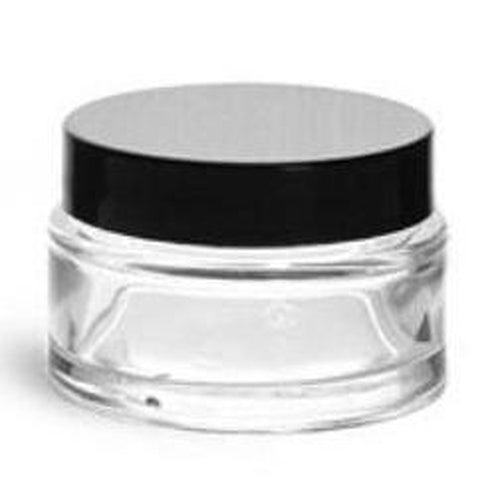 Clear Cosmetic Glass Jar 1oz