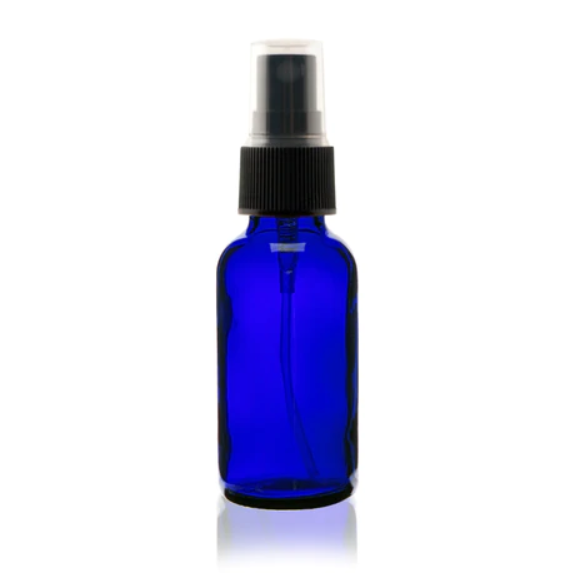 Blue 1 oz. Glass Bottle