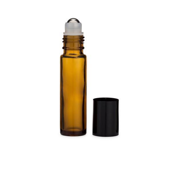 Amber Glass Roll-On with Stainless Ball 10ml
