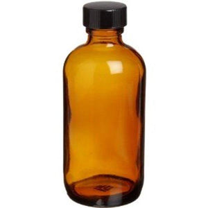 Amber 32 oz. Glass Bottle with Polycone Lid