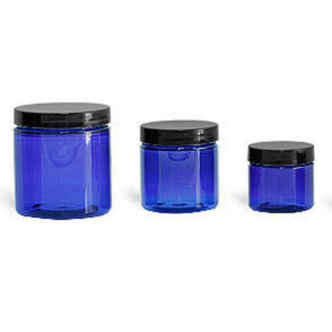Blue Glass Jars