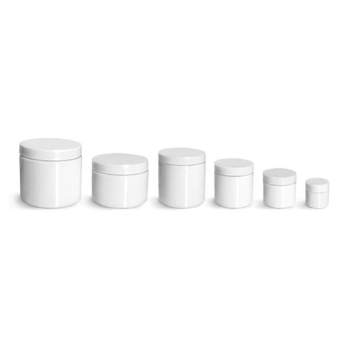 White Plastic Jars