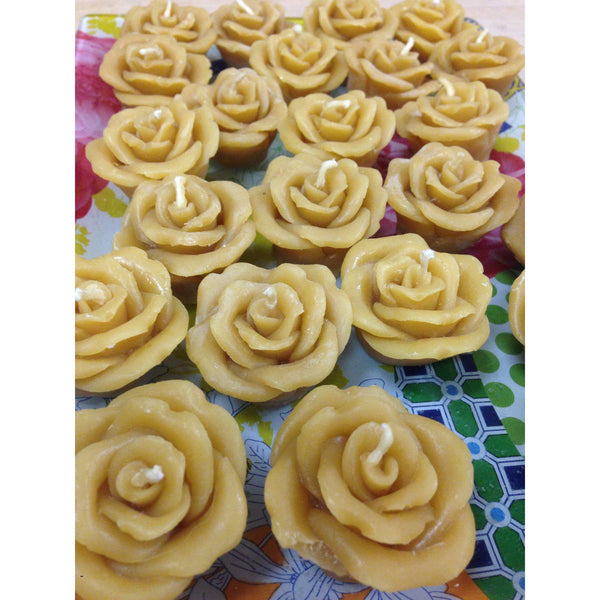 Beeswax Rose Candles