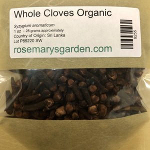 Cloves Whole Organic 1oz