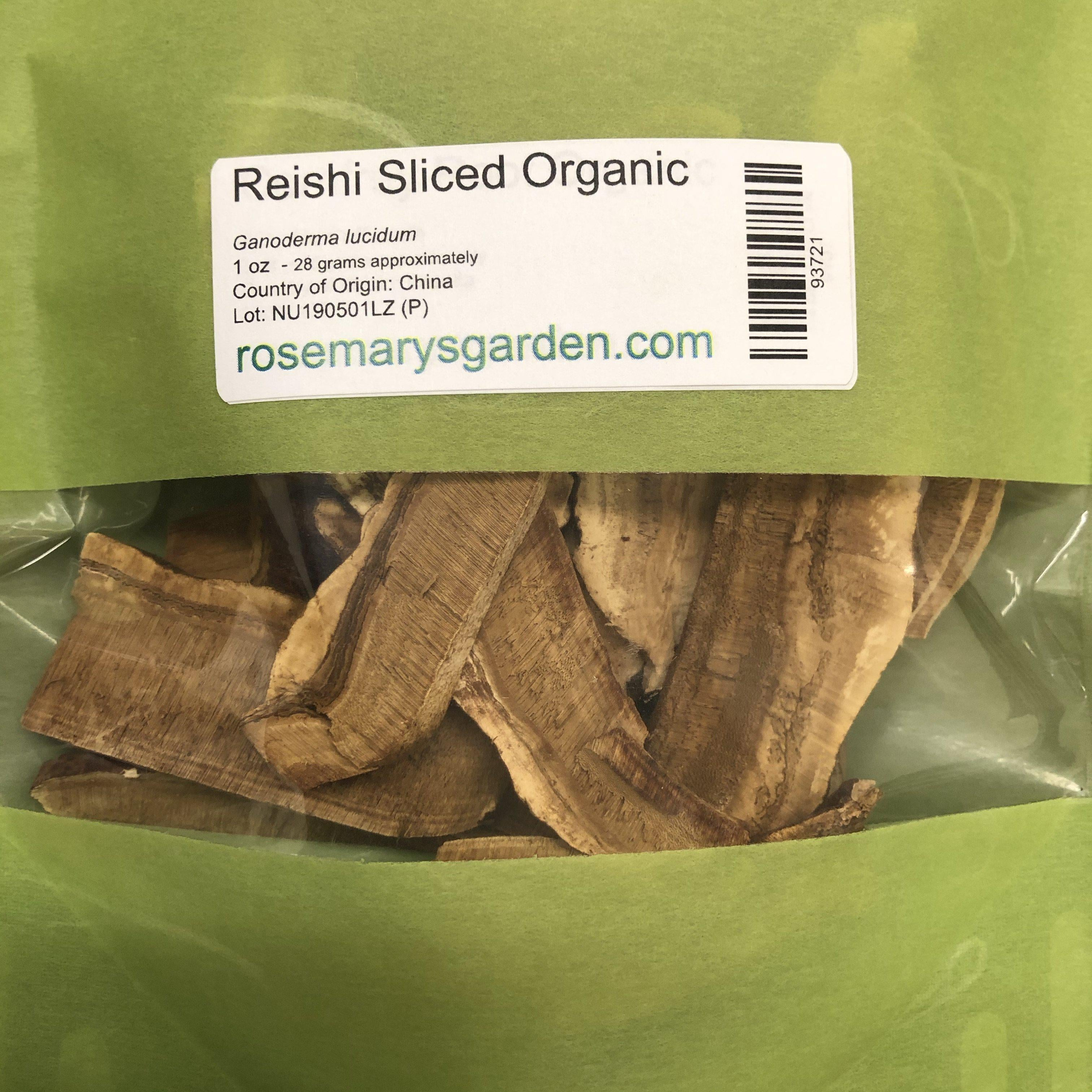 Reishi Mushroom Red Sliced Organic 1oz