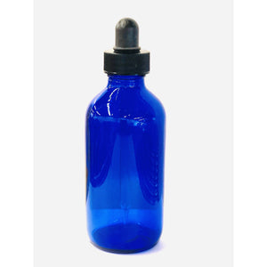 Blue 4 oz Glass Bottles