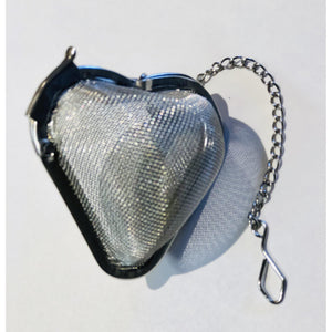 "Mesh Tea Ball Infuser, Heart Shape, 2"" D"