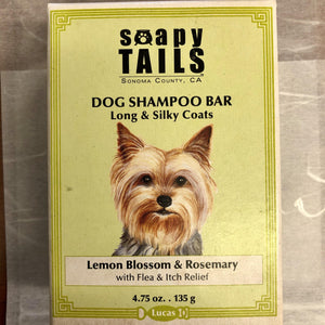 Lemon Blossom & Rosemary Dog Shampoo Bar Long & Silky Coats