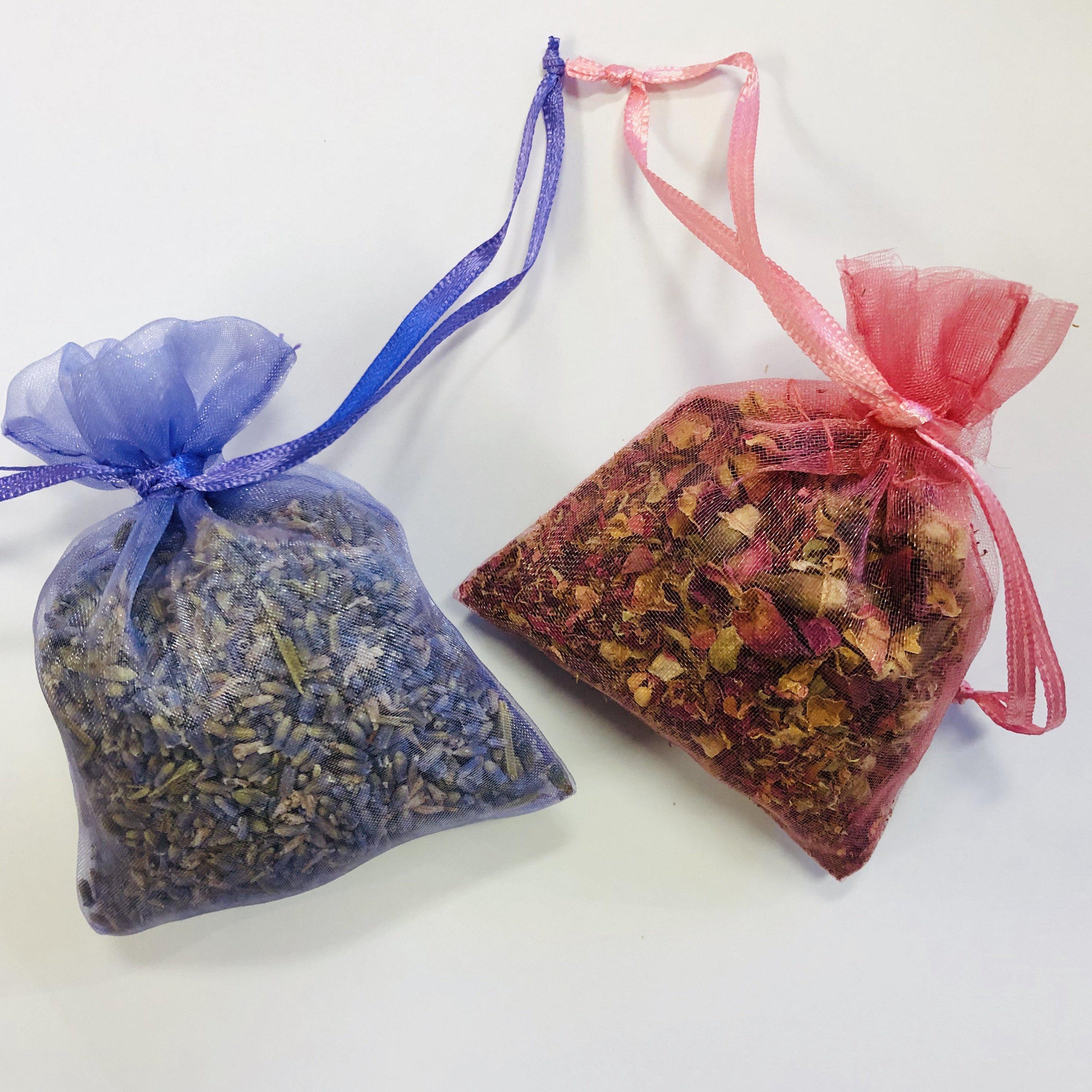 Sachets with organic herbs