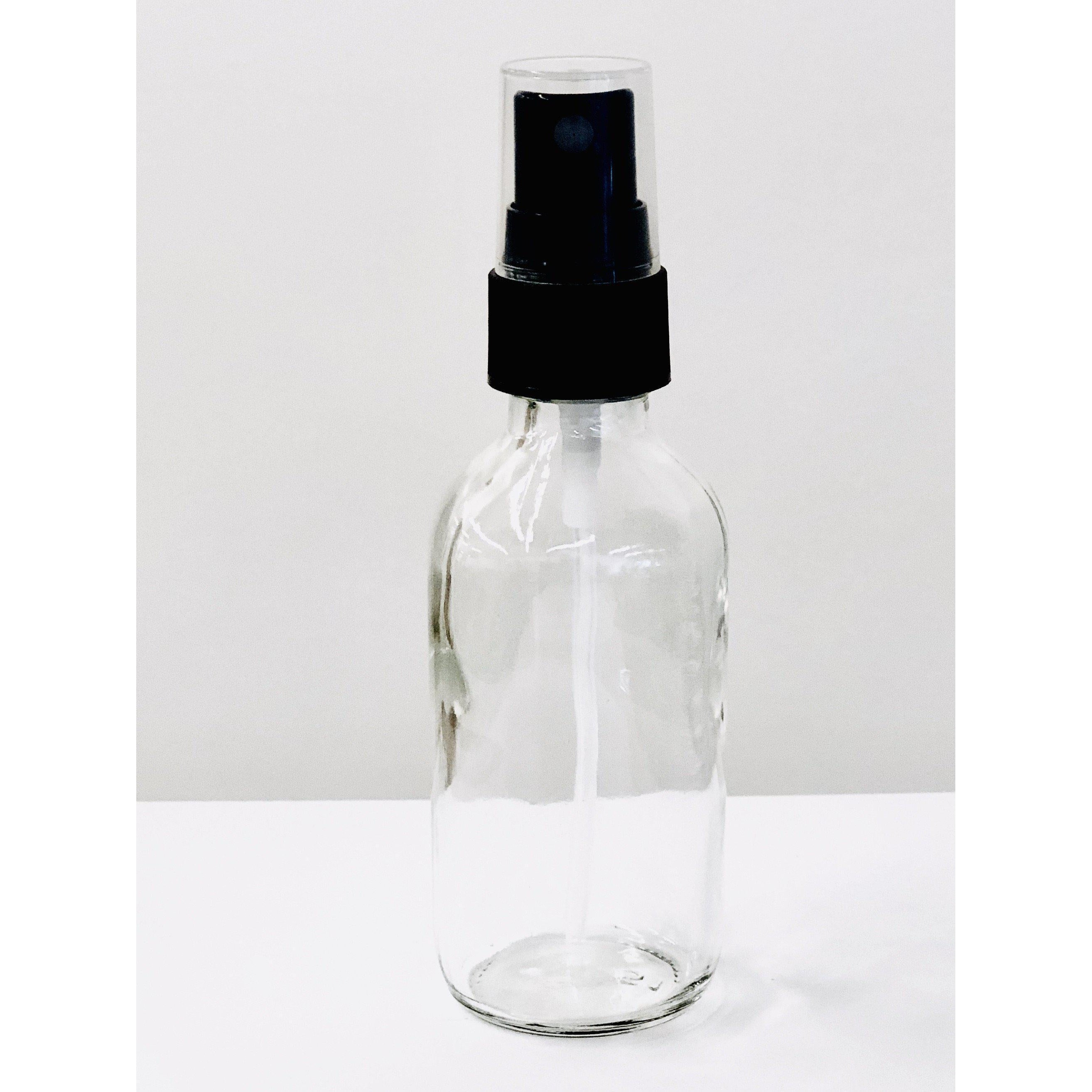 Clear 2 oz Boston Round Glass Bottles