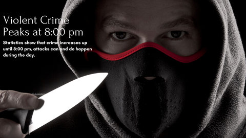 masked man with knife