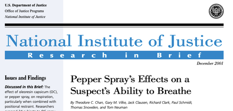 NIJ Study on Pepper Spray