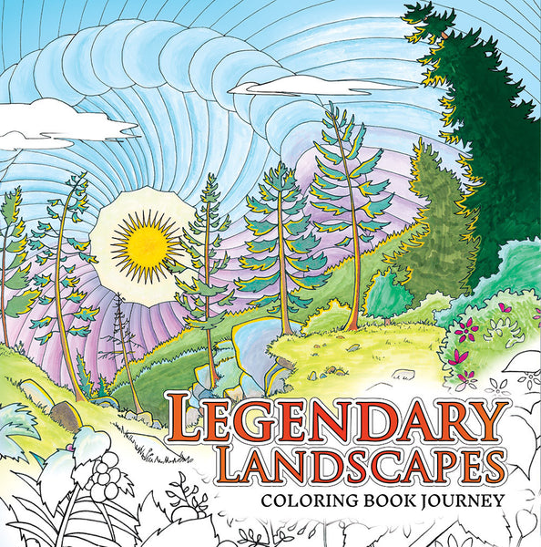 Legendary Landscapes: Coloring Book Journey - Colorworth - 1