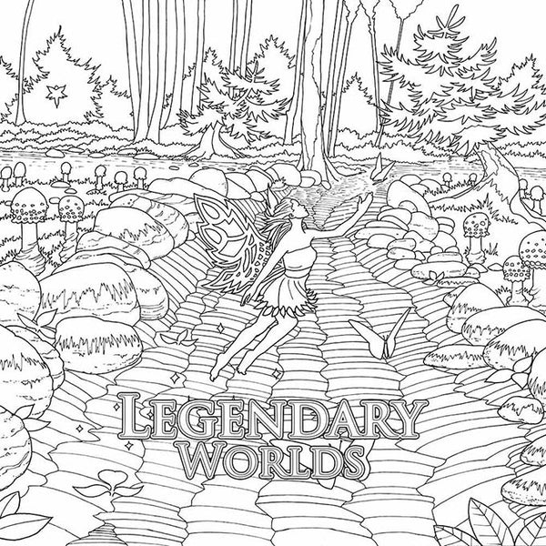Legendary Worlds: Adult Coloring Book - Colorworth - 3