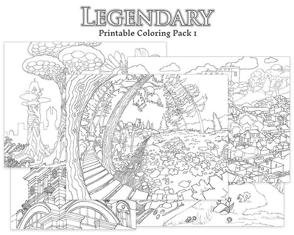 Legendary Printable Coloring Pack 1 - Colorworth