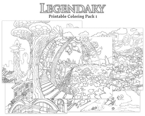 Legendary Printable Coloring Pack 1
