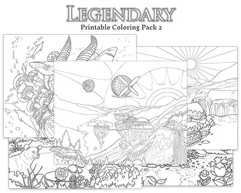 Legendary Printable Coloring Pack 2 - Colorworth