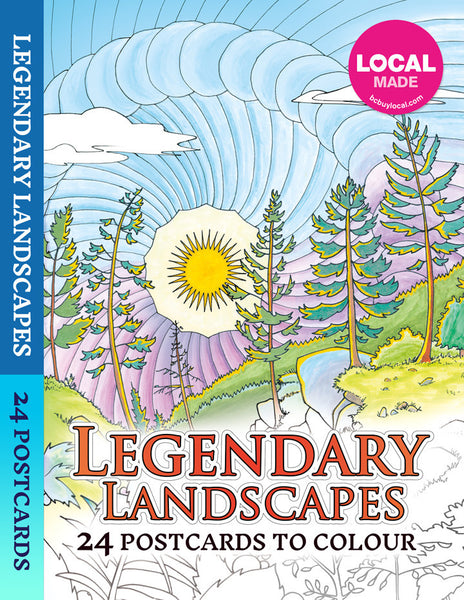 Legendary Landscapes Postcard Booklet - Colorworth - 1