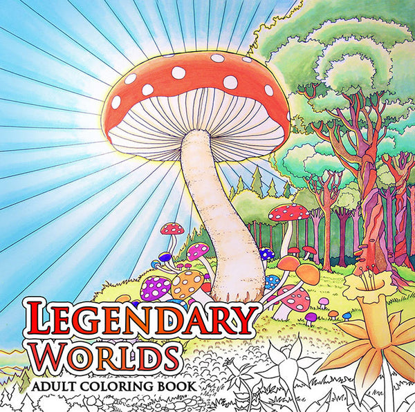 Legendary Worlds: Adult Coloring Book - Colorworth - 1