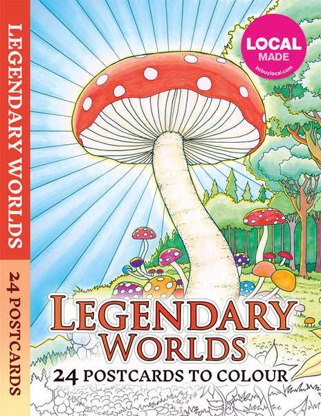 Legendary Worlds Postcard Booklet - Colorworth - 1
