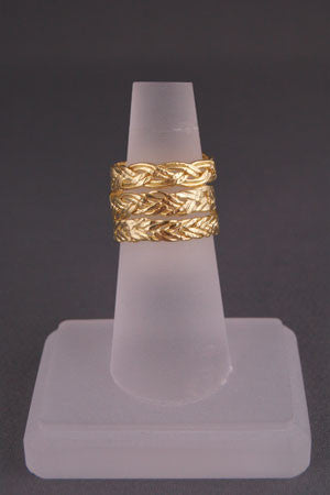 Set of 3 Gold Braid Rings