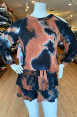 Load image into Gallery viewer, Tie Dye Smocked Ruffle Skirt