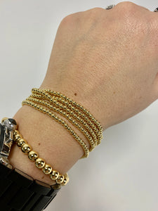 Gold Extra Small Bead Stretch Bracelet