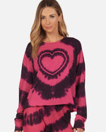 Load image into Gallery viewer, Darwin Tie Dye Heart Long Sleeve Tee