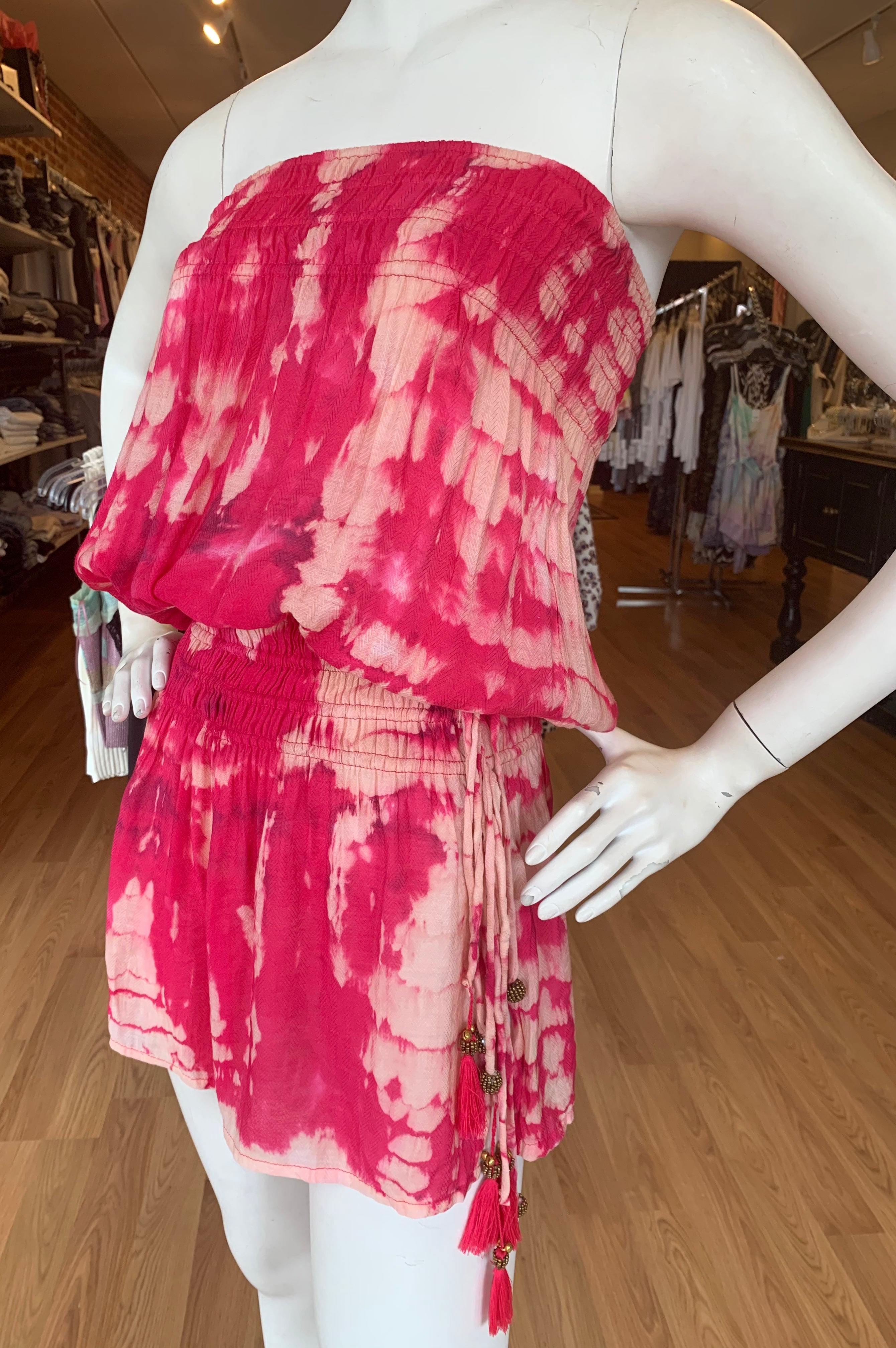 Strapless Tie Dye Dress