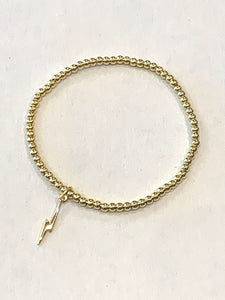 Mini Lightning Bolt Bracelet Gold