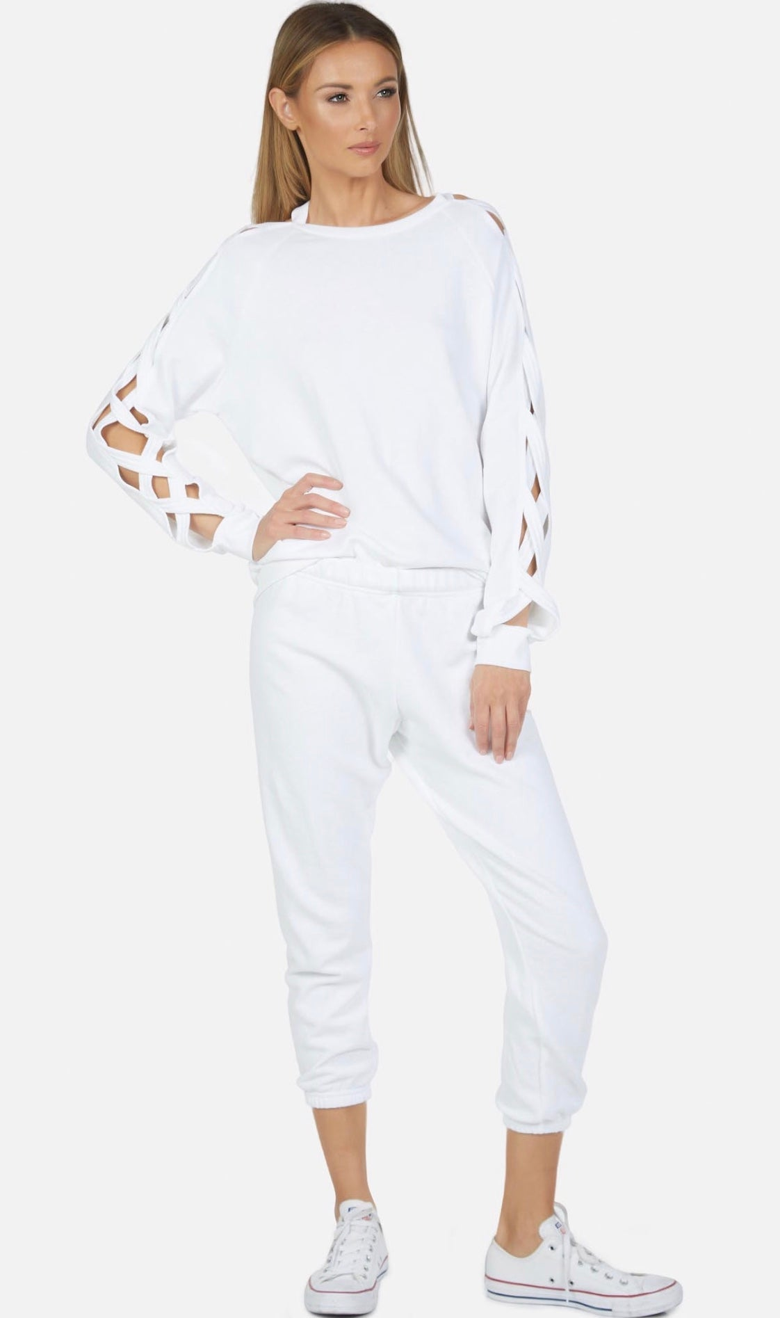 Ellsworth Lattice Sleeve Sweatshirt